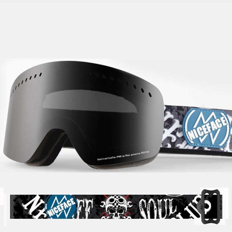 2018 Chaude Ski Lunettes UV400 Anti-brouillard Ski Masque Lunettes Snowboard Patinage lunettes de soleil protégeant du vent lunettes de Ski Russie esquiar