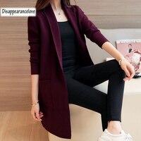 DRL Женский Теплый кардиган-пальто свитер и длинные шерстяные свитера тонкий плотный джемпер трикотажные кардиганы