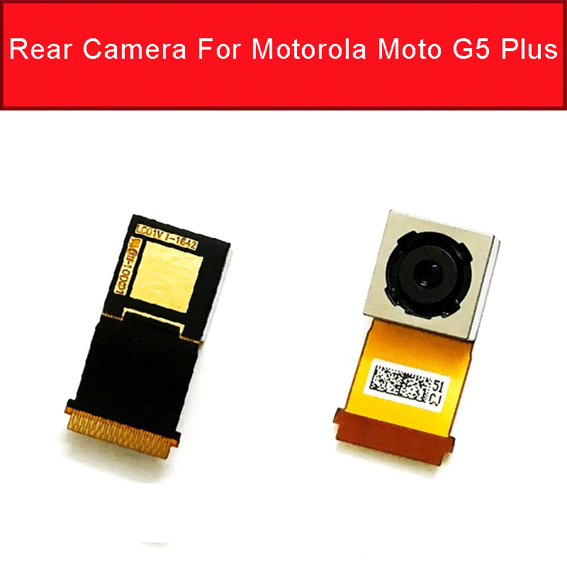 Genuine Rear Camera For Motorola Moto G5 Plus Main Back Camera Module For Moto G5 Back Camera Flex Cable Replacement Parts