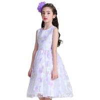 Retail New Style Summer Baby Girl Print Flower Girl Dress For Wedding Girls Party Dress Princess