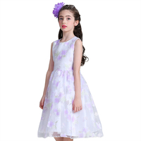 Retail New Style Summer Baby Girl Print Flower Girl Dress For Wedding Girls Party Dress Princess