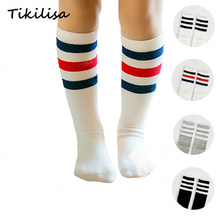 698a0e7c9cf Brand Stripes Sports Football Kids Socks Toddler Baby Cotton Socks Knee  High Long Warmers Cute Boy Girl Children Socks 0-5 Y