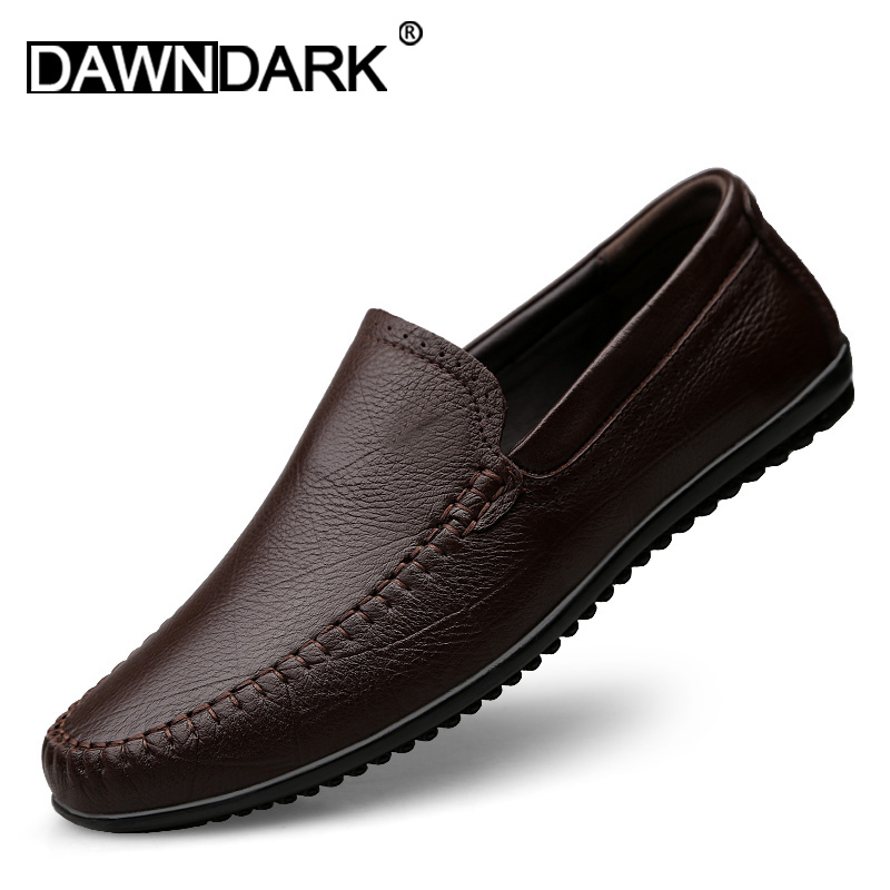 Men Genuine Leather Fashion Shoes Slip on Male Luxury Soft Leather Krasovki Sneakers Brand Man Casual Boat Loafers Big SizeMen Genuine Leather Fashion Shoes Slip on Male Luxury Soft Leather Krasovki Sneakers Brand Man Casual Boat Loafers Big Size