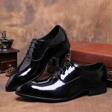 QYFCIOUFU Luxury Oxford Shoes For Men Office Shoes Patent Leather Business Dress Shoes Men Flats Lace Up Black Designer Shoes