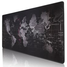 Gaming Mouse Pad Large Mouse Pad Gamer Big Mouse Mat Computer Mousepad Rubber Surface World Map Mause Pad Keyboard Desk Mat Game(China)