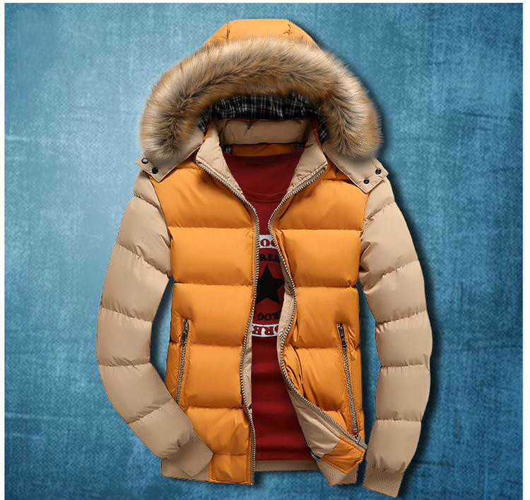 2017men Winter Parkas Cotton-padded Jacket Plus Size M-4xl Fur Collar Man Thick Warm Coats