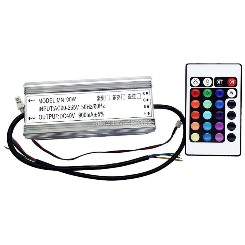 ip67 waterproof 90w rgb led driver with ir remote