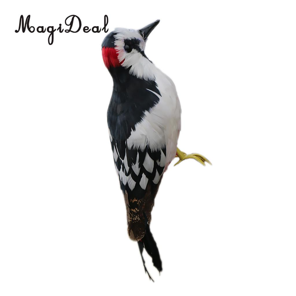 MagiDeal Hand Crafts Birds Animal Figurines Miniatures Feathered Birds Model Statue Xmas Tree Ornament Gift