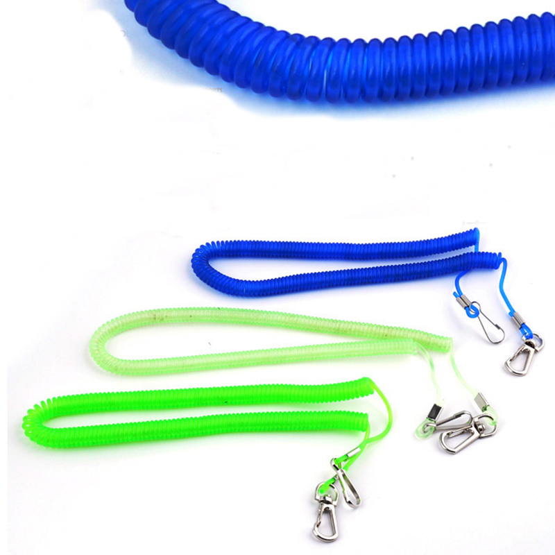 5M spring type missed rope hand rope fishing tackle auxiliary tool color random