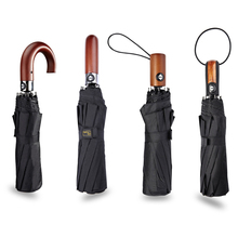 Men Business Umbrella Windproof 3 Folding Automatic Umbrella Large Luxury Umbrellas For Men Travel Rain 10 K Male Parasol