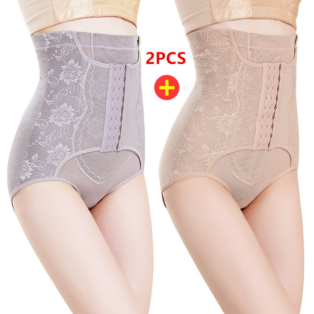 bd1d74f550fb 2pcs Summer High Waist Seamless Thin Body Shaping Pants Postpartum Pregnant  Women Plus Size Hip Stomach Waist Belly Lace Panties