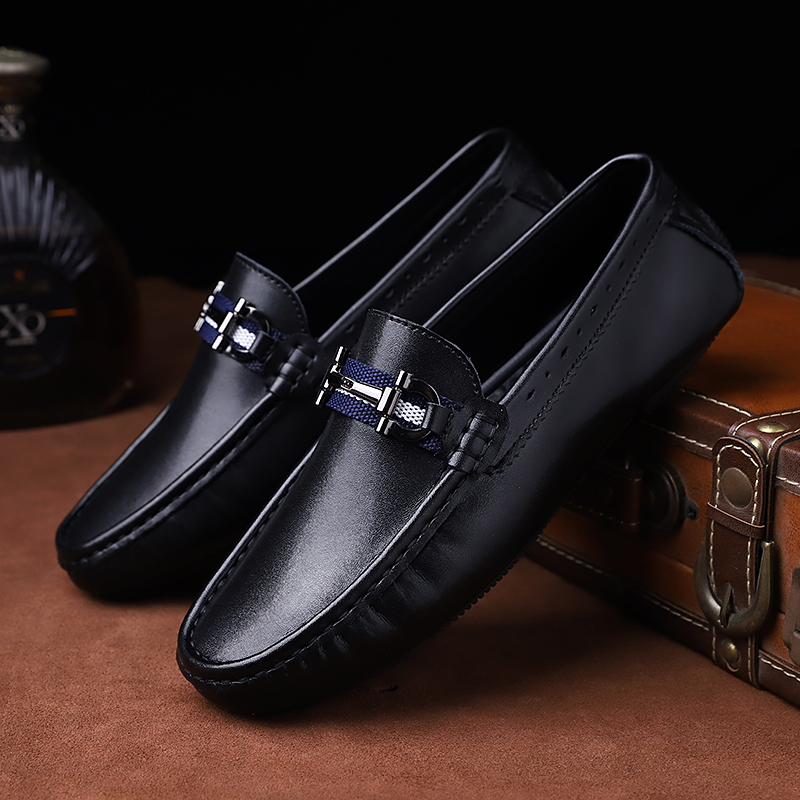 Cimim Brand Formal Shoes Men High-end Custom Men Leather Dress Shoes Fashion Flock Big Size Loafers Men Casual Office Men Shoes Shoes