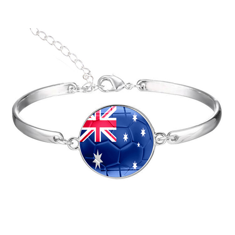 HB37 per kim Rotondo di Vetro Nazione Bandiera Braccialetti di Australia, Brasile Colombia Corea Perù Giappone Arabia Saudita Uruguay del braccialetto delle donne