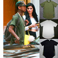 TYGA T Shirt Men histree kanye juntos popular Europea y Americana logo cremallera lateral streetwear manga corta camiseta de hip hop Camiseta