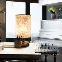 Table Lamp Non Adjustable Desk LED Lamp Table Lamp Bedroom Cloth Creative Fashion Modern Minimalist European