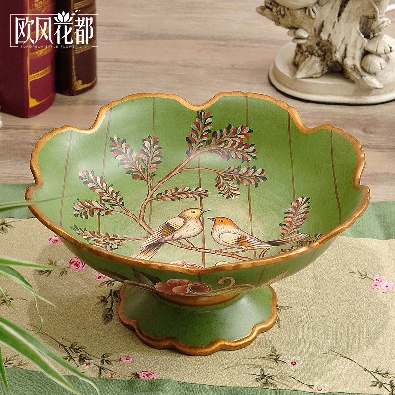 American Ceramic large fruit plate decoration style living ...