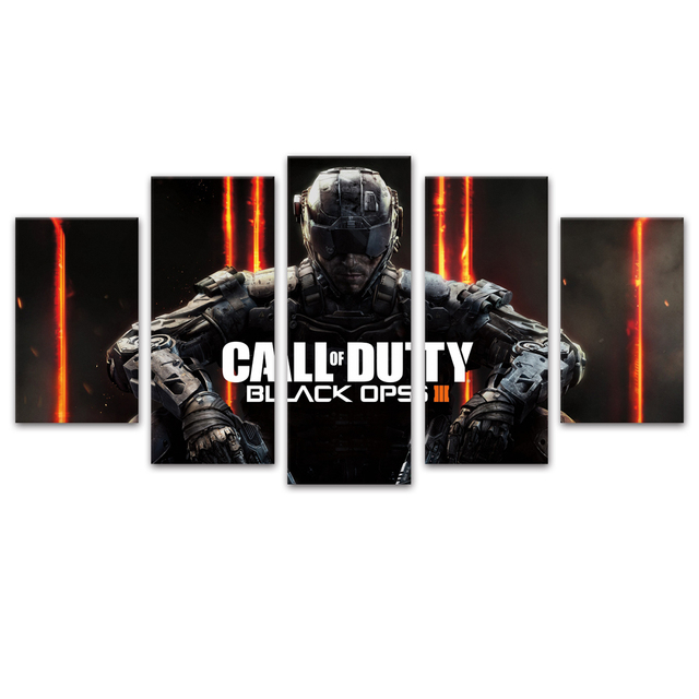 Unframed Canvas Painting Call Duty Black Ops 3 Game Poster Modular Picture Prints Pictures For Living Room Wall Art Decoration 2