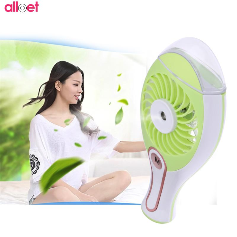 Portable USB Charging Mini Electric Fan Rechargeable Humidifier Aromatherapy Essential Mist Maker Humidifier Fans Air Condition original xiaomi portable usb mini fan