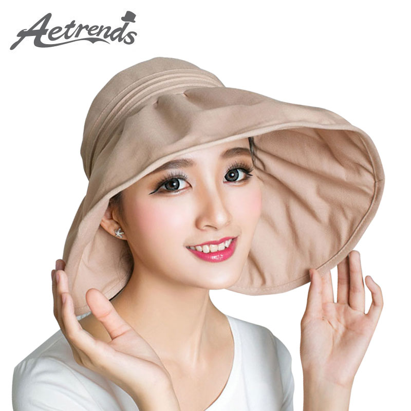 7a6a6c48b265b Details about  AKIZON  2017 Wide Brim Sun Hats for Women Summer Beach Hat  Sun Visor Cap