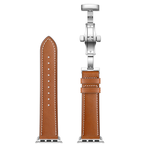 Image 3 - Genuine Cow Leather Watchband for iWatch Apple Watch Series 5 4 3 2 1 38mm 40mm 42mm 44mm Replacement Band Strap Wrist Bracelet
