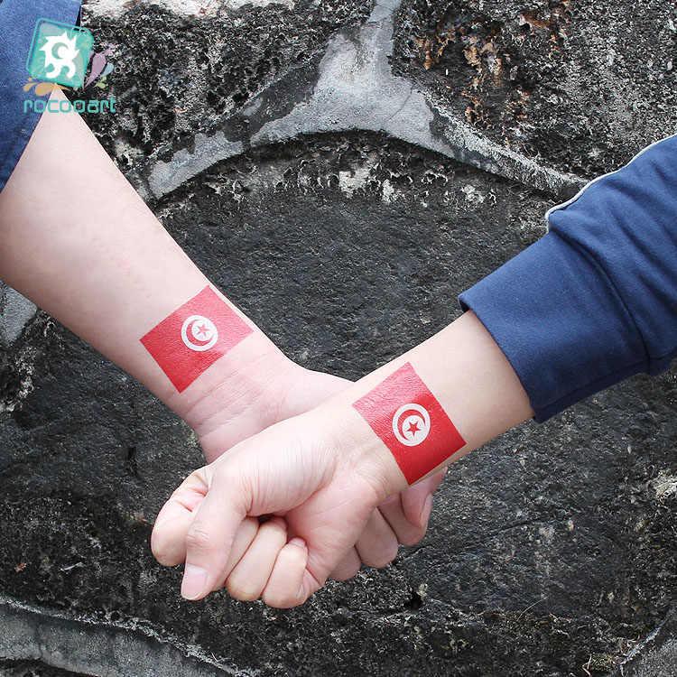 2019 drapeaux de pays de fête nationale de pologne, arabie saoudite, Ukraine, angleterre, nigéria tatouage autocollant drapeau visage Tatoo temporaire.