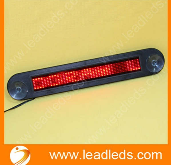 4pcs 12V Smart Programmable Mini Led Sign For Car With Remote Control