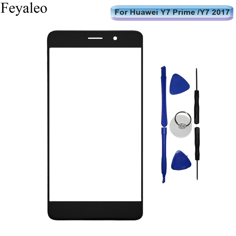 Front Screen Outer Glass For Huawei Y7/Y7 Prime (2017) TRT-LX2 TRT-LX1 Nova Lite+ Touch Panel Lens Replacement (Not Digitizer)