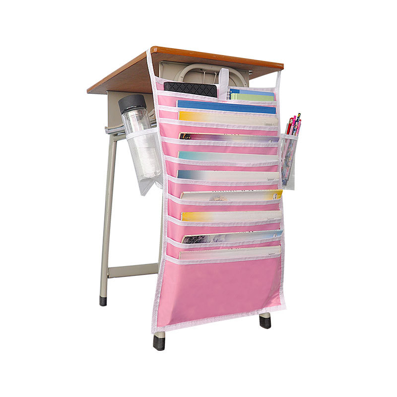 Многофункциональная подвесная сумка для книг, Студенческая сумка для хранения книг, регулируемая сумка для хранения книг, органайзер для книг - Цвет: pink
