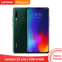 Original Lenovo Z6 Lite 4GB 64GB Snapdragon 710 Octa Core Triple Back Cams 19.5:9 Water Drop 6.3 Inch 4050mAh Smartphone Lenovo Phones