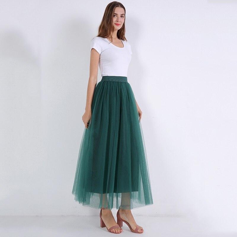 Elegáns nők hosszú, puha tutu szoknyák Vadim padlóhosszúságú tüll szoknya Elasic Jupe Longue Saias esküvői party fodrász punk szoknya