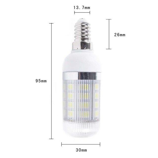 AC 85V-265V e14 base 36 5050 smd led corn lamp bulb white indoor light New cheap wholesale price