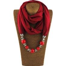 Necklaces Pendants Long Necklace Beads Pendant Scarf Neckerchief Pendant Necklace For Women Bijoux Ethnique Femme Dropshipping