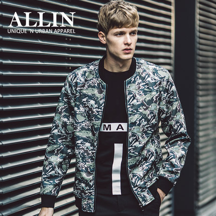 Buy High Quality 2016 Spring Korean Style Casual Printed Men Jacket Brand Clothing Mens Brand-clothing Jackets and Coats Camouflage