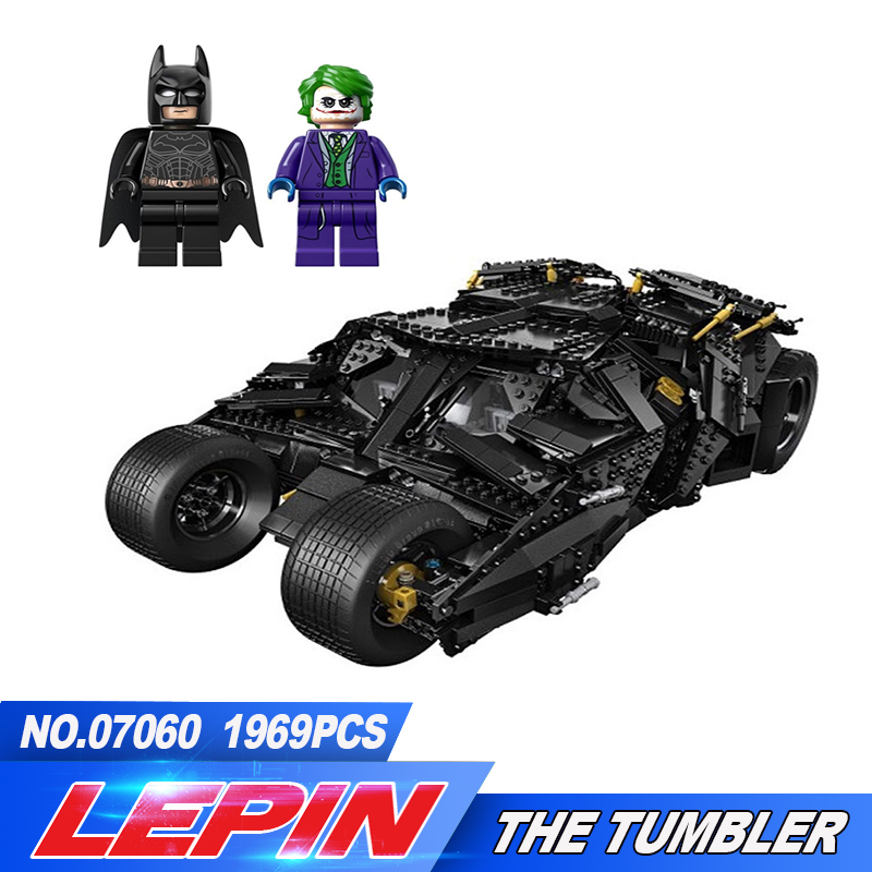 LEPIN 07060 Super Hero Movie Series The Tumbler Batman Armored Chariot Set 76023 Building Block Bricks Toys for children bevle store lepin 07045 501pcs with original box movie series robin chariot building blocks bricks for children toys 70905