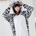 2016  Adults Flannel cosplay Pajamas Homewear Women costume  Animal  Zebra Suits Cosplay Cute Funny Cartoon Animal Pajama Sets