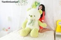 stuffed plush toy huge 140cm green teddy bear soft plush toy soft bear doll hugging pillow birthday gift s0393