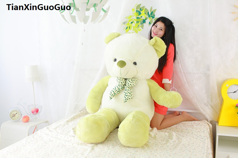 stuffed plush toy huge 140cm green teddy bear soft plush toy soft bear doll hugging pillow birthday gift s0393 цена