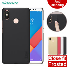 Case Voor Xiaomi Max 3 Nillkin Super Frosted Shield Hard Cover Case Anti Slippen Case Voor Xiaomi Mi Max 3(China)