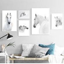 Imagem de parede com imagens de arte nórdica, imagem moderna de arte para mais cavalos cabeça para futuro