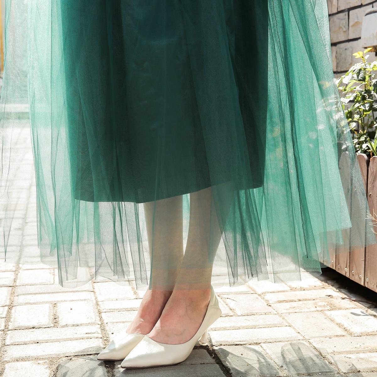4 shtresa 100cm 2018 Maxi Long Tutu Tulle Funde Femra Pantallona të - Veshje për femra - Foto 5