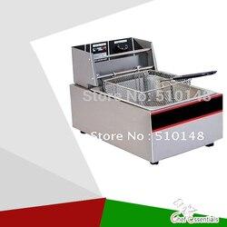 Elektryczne frytkownica (EF-60)/6 ltra/S. stali nierdzewnej/szybkie heatup/olej typ taśmy