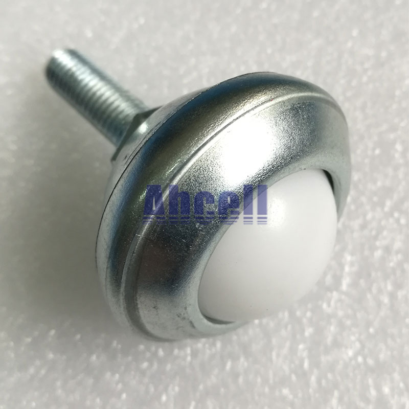 CY-25FL-NL Plastic Ball M8x25mm Thread Rod Stud mount light load capacity robot ball casters, Bolt End Ball transfer units