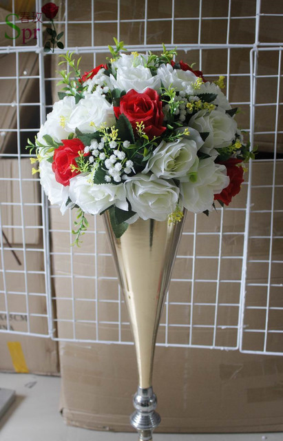 Spr free shipping10pcslot white red wedding table centerpiece spr free shipping10pcslot white red wedding table centerpiece artificial flowers kissing flowers mightylinksfo