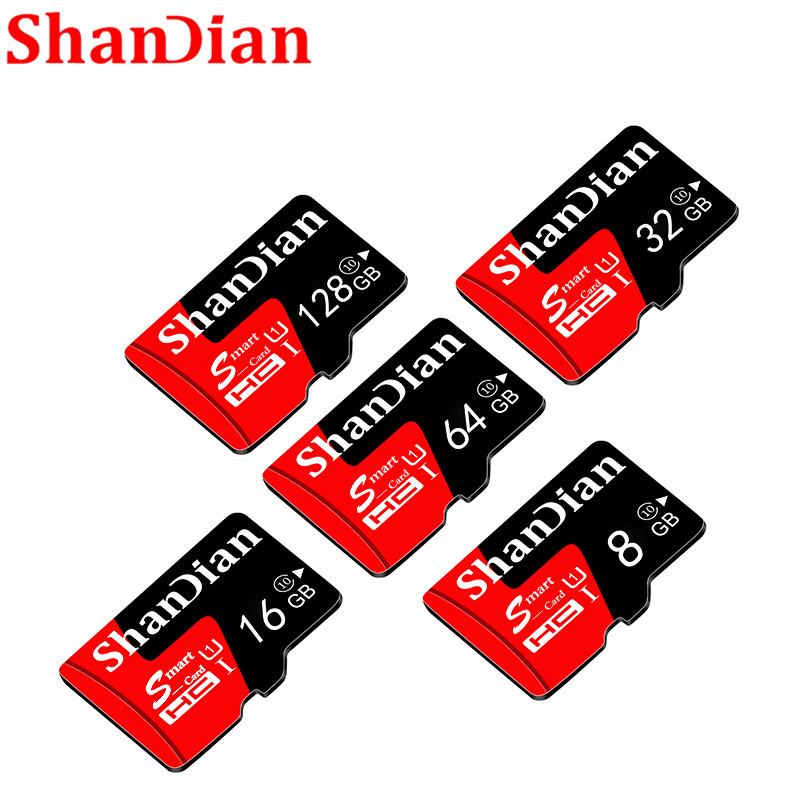 SHANDIAN Best Brand micro sd 8GB 16GB 32GB 64GB memory card micro sd card cartao sd TF card free adapter for Phone/Table/Camera