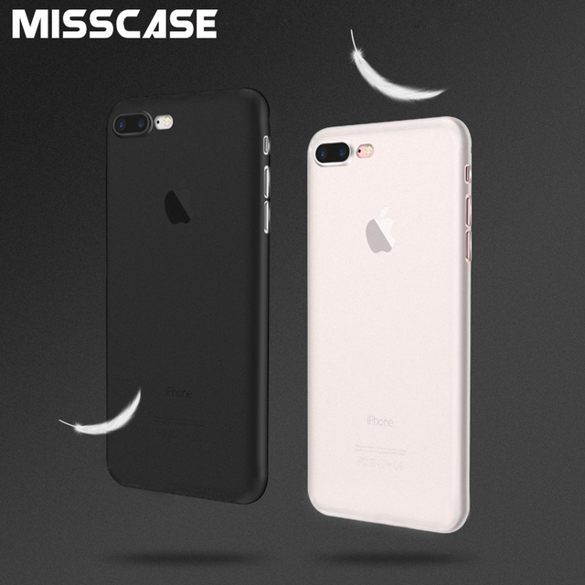 MISSCASE Phone Case For iPhone 6 6s 7 Matte Plastic Fitted Case Ultra-thin Cover For iPhone X 7 8 6 6s plus 5 5S SE 5C 4 4S Case