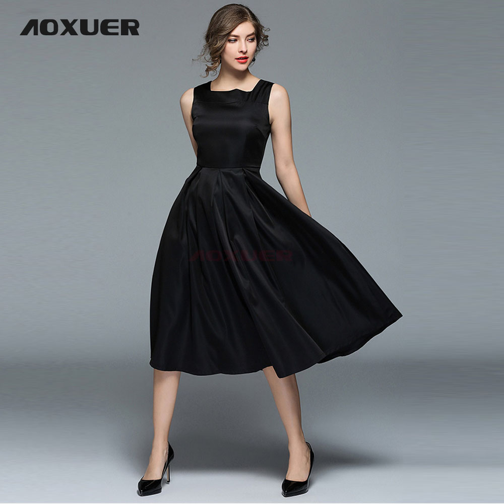 AOXUER Celebrity Runway Dresses Slim Sleeveless Summer Dress Women ...