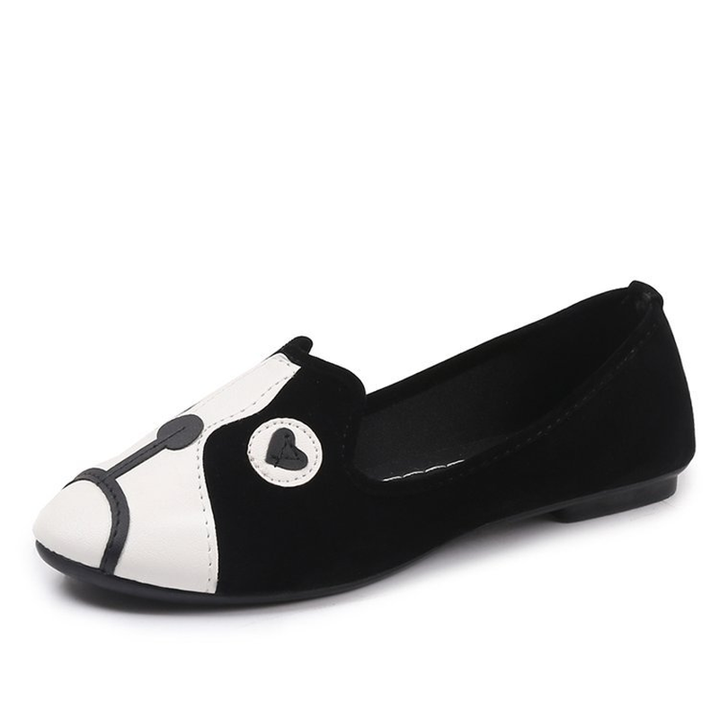 2018 Spring New Women's Shoes Flats Shallow Loafers Sneakers Cartoon Casual Shoes Fashion Animal Prints Slip-on Plus Size 35-41 bohemia plus size 34 41 new fashion wedges sandals slip on elastic band casual platform shoes woman summer lady shoes shallow