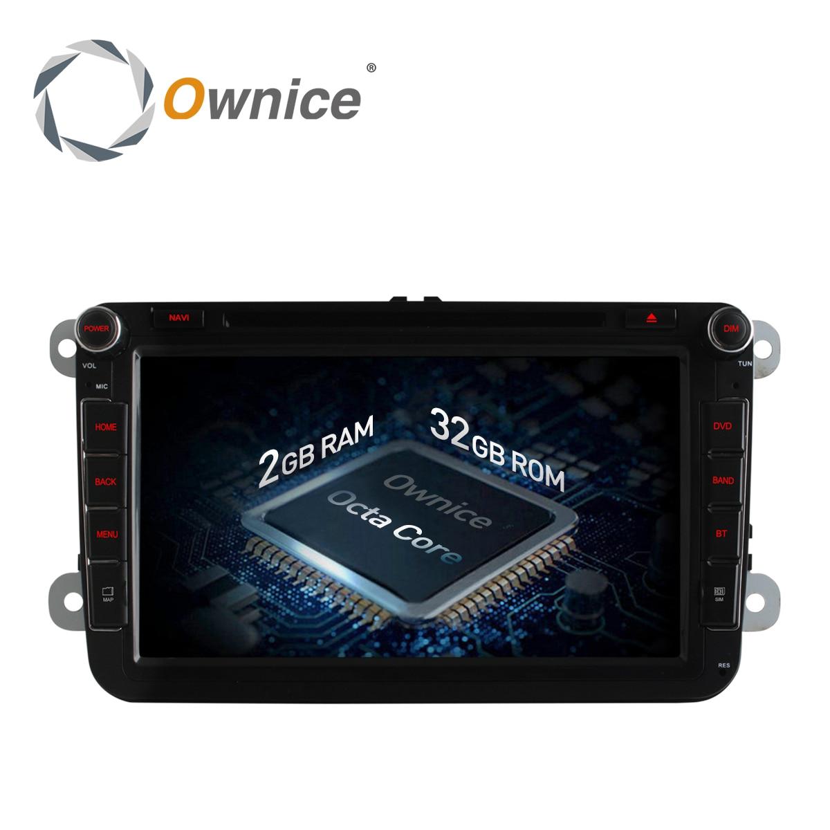 "imágenes para 8 ""Ownice Android 6.0 Octa 8 Core GPS DVD Del Coche para Volkswagen golf 4 golf 5 6 passat B6 touran sharan jetta caddy 4G LTE red"