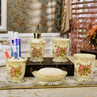 Moden England Style Luxury Ceramic Bathroom Set Five Piece Set Pieces Set Bathroom Accessories For Home