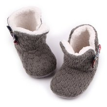 New Winter Warm Baby Shoes First Walkers Boys Girls Ankle Snow Boots Infant Crochet Knit Baby Shoe New Arrival M2